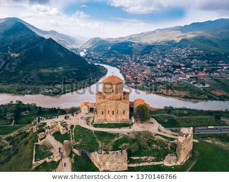 Klooster Georgië orthodox Oost kerk Blauw Stockfoto © borisb17