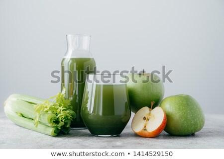 Horizontal erschossen frisch Äpfel gesunde Ernährung Vegetarier Stock foto © vkstudio