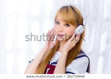 school girl Sailor suit summer_beauty Stock photo © toyotoyo
