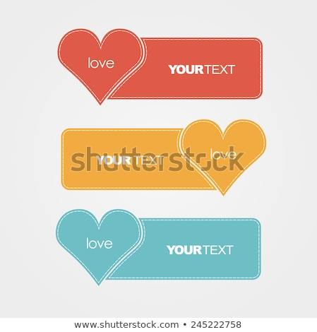 Valentine's hearts set in the frame from rectangular shadows. Stock photo © artjazz