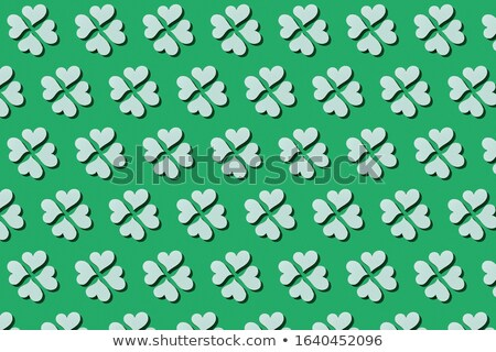 Handcraft paper white clover's four petals with shadows. Stock photo © artjazz