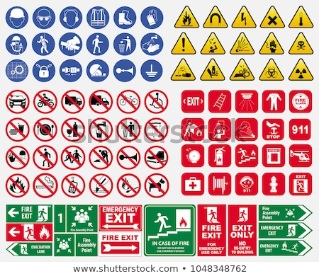 Emergency sign icon Stock photo © fotoscool