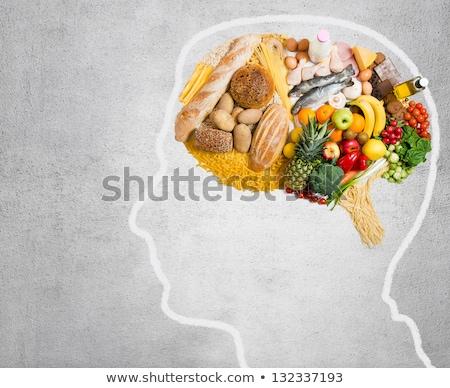 Egészséges agy étel erősítés táplálkozás csoport Stock fotó © Lightsource