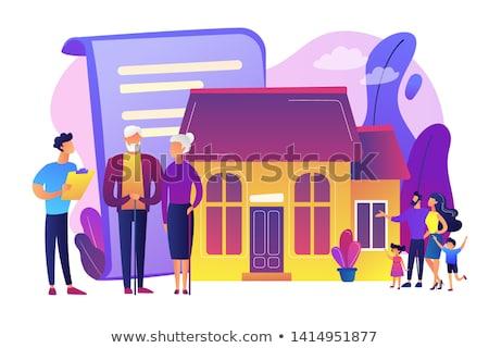 Planowania nieruchomości ubezpieczenia podpisania Zdjęcia stock © RAStudio