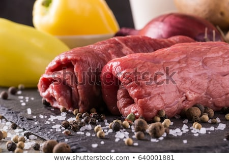 Nyers marhahús előkészített főzés Stock fotó © Dar1930
