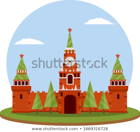 Kremlin tower with clock on Red Square Stock photo © ShustrikS