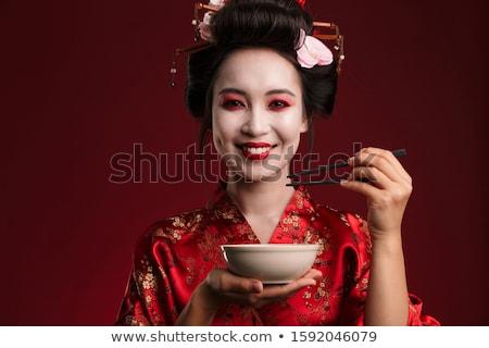 画像 芸者 女性 日本語 着物 ストックフォト © deandrobot