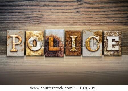 Polícia vintage tipo palavra Foto stock © enterlinedesign