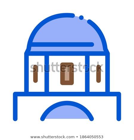 Klasszikus görög épület kupola ikon vektor Stock fotó © pikepicture
