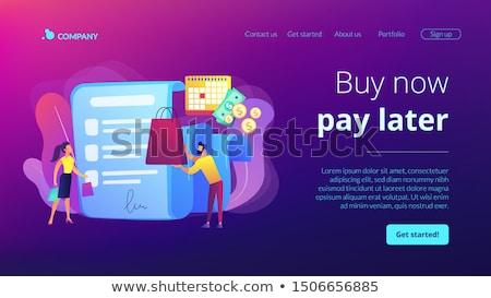 Fizetés leszállás oldal vétel ajánlat vásárlás Stock fotó © RAStudio