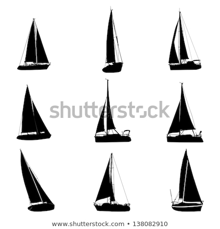 Pirate Sail Boat Icon Vector Outline Illustration Stock photo © pikepicture