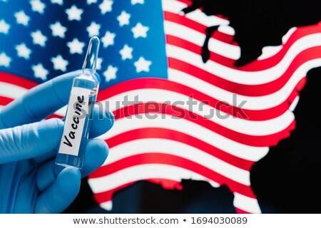 стороны резиновые медицинской перчатки вакцина Сток-фото © vkstudio