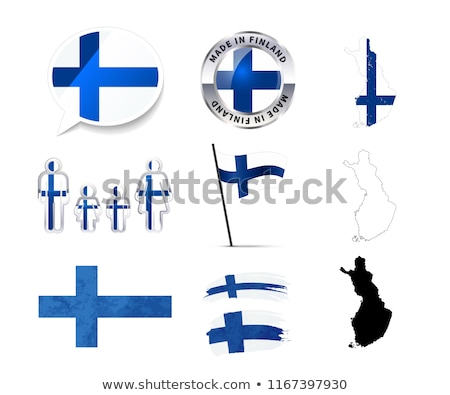 Large set of Finland infographics elements with flags, maps and badges on white Stock photo © evgeny89