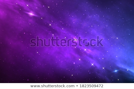 Realistic Saturn planet on colorful deep space background with bright stars and constellations Stock photo © evgeny89
