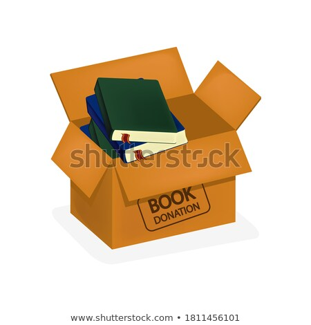 Volunteers Support Study Box isometric icon vector illustration Stock photo © pikepicture