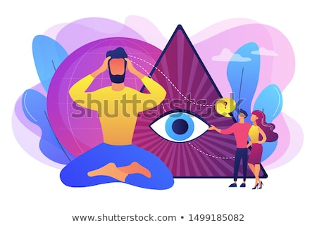 Clairvoyance ability abstract concept vector illustration. Stock photo © RAStudio