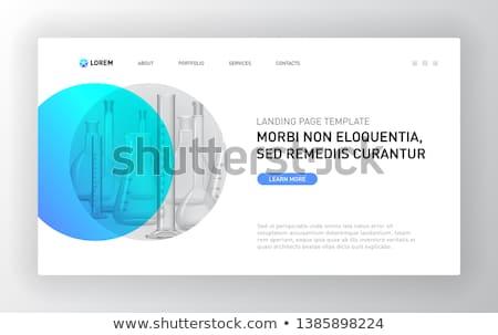 Farmaceutyczny obrotu lądowanie strona przedstawiciel laptop Zdjęcia stock © RAStudio