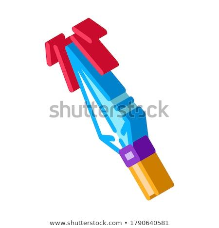 Sharp Arrowhead Archery isometric icon vector illustration Stock photo © pikepicture