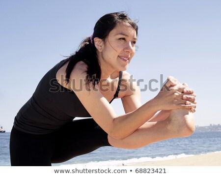 йога · создают · учитель · пляж · морем · красоту - Сток-фото © fxegs