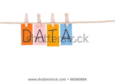 アイデア カラフル 単語 ロープ 木製 ペグ ストックフォト © Ansonstock
