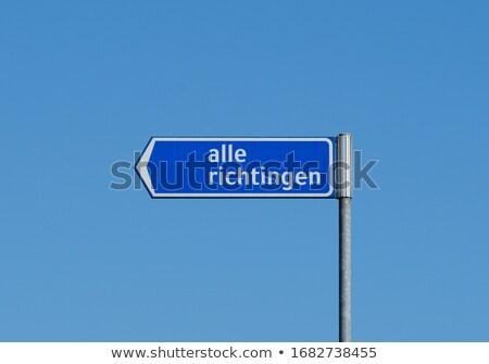 Нидерланды · шоссе · знак · зеленый · облаке · улице · знак - Сток-фото © kbuntu