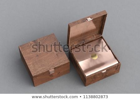 Wooden box with jewelry stock photo © alrisha