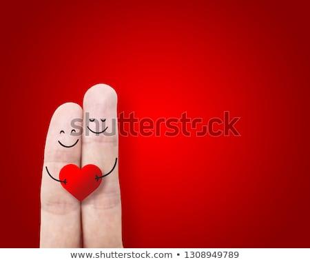Foto stock: Dos · corazones · notas · San · Valentín · música · romance