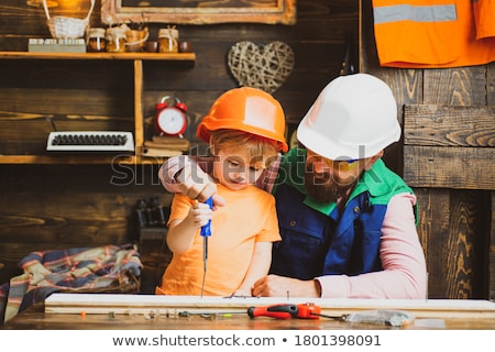 Timmerwerk timmerman werken workshop home improvement klusjesman Stockfoto © H2O