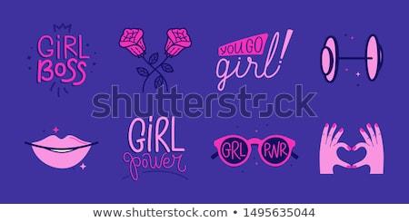 vector · kleurrijk · stickers · ingesteld · stijlvol · ontwerp - stockfoto © sahua
