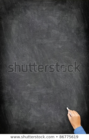 blackboard chalkboard   vertical hand writing stock photo © maridav