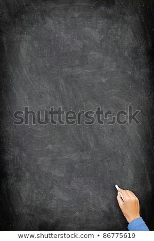 Zdjęcia stock: Blackboard Chalkboard - Vertical Hand Writing