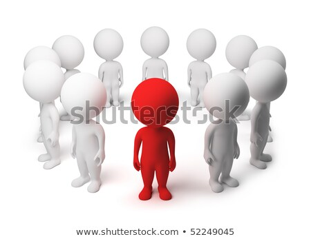 3d small people   standing around stock photo © anatolym