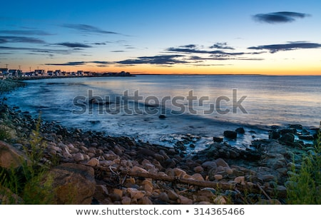 Maine plage sunrise permanent humide sable Photo stock © jsnover