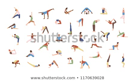 Traditional yoga pose stock photo © nyul