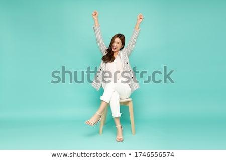 portrait · femme · robe · belle · femme - photo stock © nyul