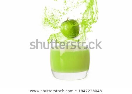 зеленый · яблоко · стекла · яблочный · сок · цвета · сока - Сток-фото © Traven