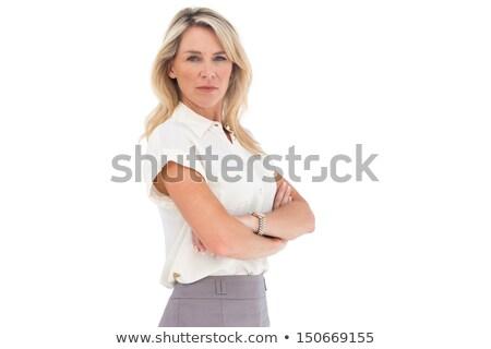Popa empresária quente vestir zangado saia Foto stock © photography33