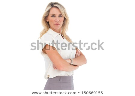 Poupe femme d'affaires chaud robe colère jupe Photo stock © photography33