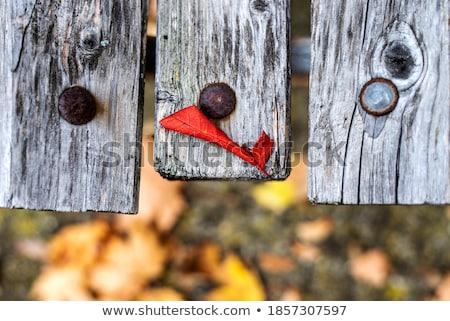 vert · bois · banc · fer · résumé - photo stock © hasenonkel