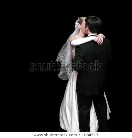 dansen · bruid · bruidegom · boeket · hand · bloemen - stockfoto © paha_l