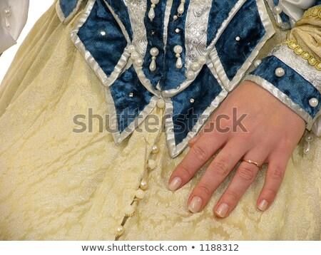 meisje · kleding · 16 · tijdperk · koningin · vrouw - stockfoto © zastavkin