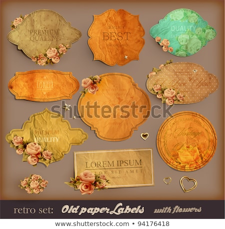 Set of retro roses vintage labels Stock photo © ElaK