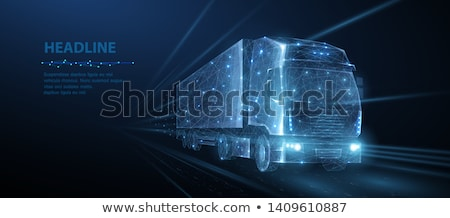 Truck on a light background Stock photo © Supertrooper