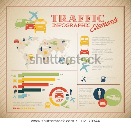 big vector set of traffic infographic elements stock photo © orson