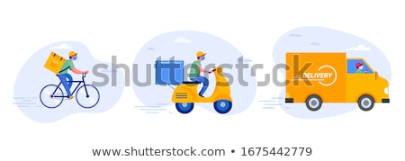 Levering hand vrachtwagen karton dozen Stockfoto © JohanH
