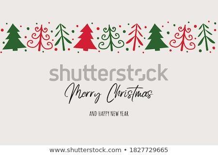 рождество · украшение · украшения · белый · серебро · зеленый - Сток-фото © kaycee