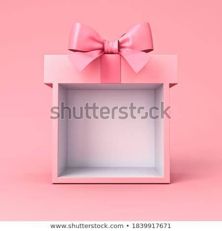 рождество украшение шкатулке окна зеленый красный Сток-фото © kaycee