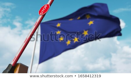 Канадский · флаг · Blue · Sky · волны · сильный · ветер - Сток-фото © michelloiselle