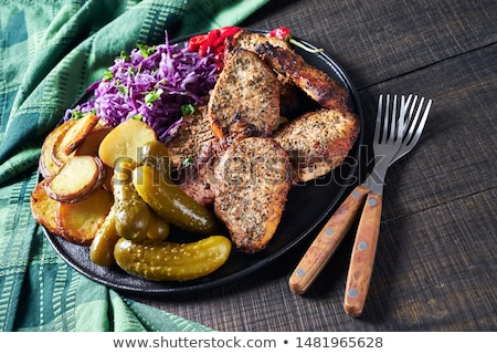 Spicy Roast Pork tenderloin Stock photo © zhekos