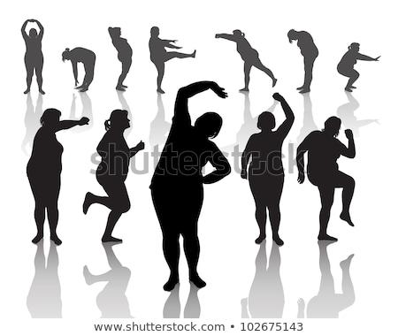 двенадцать женщину спорт краской фон Сток-фото © leonido